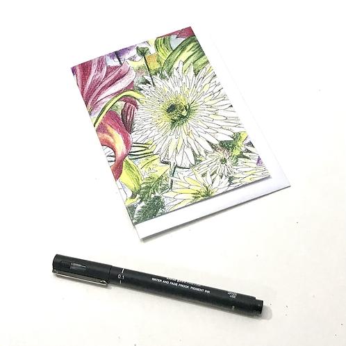 A6 Winter Card-Spring Blossom
