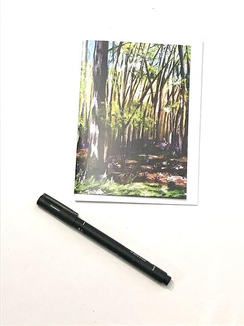 A6 Winter Card-Bluebells