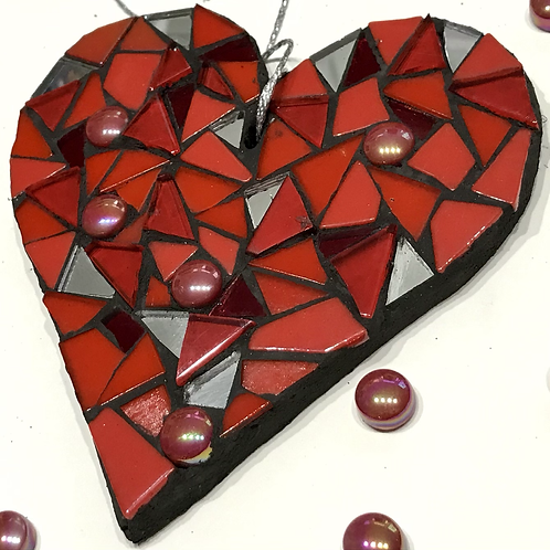 Red Mosaic Heart 1
