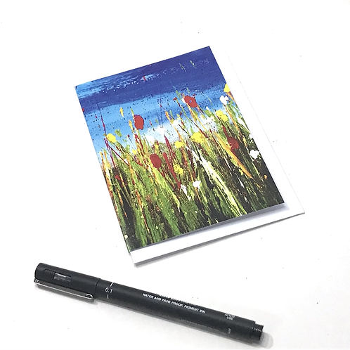 A6 Winter Card-Spring Flowers