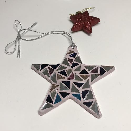 Purple and silver mirror star
