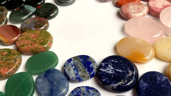 Palm Stone with Channeled Affirmation Message