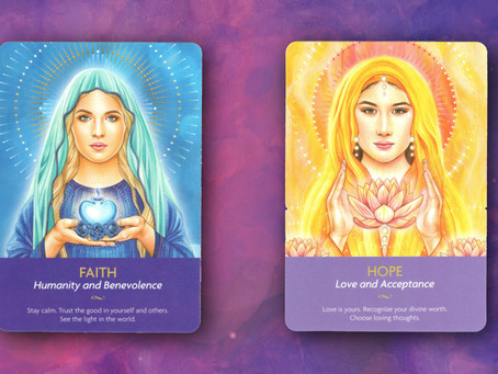 Archangels Faith and Hope, benevolence and love