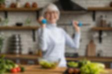 senior older people fitness trainer