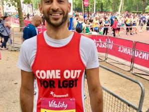 £300 Raised for Stonewall. Vitality 10K
