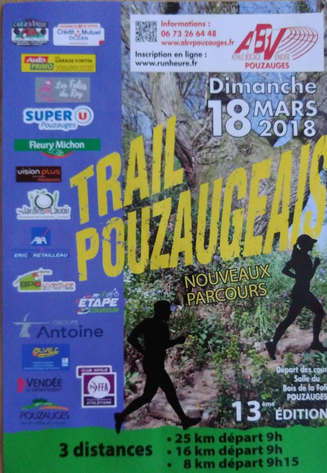 Trail Pouzauges 18 Mars !