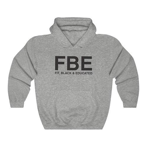 Unisex FBE™ Black Letter Hooded Sweatshirt
