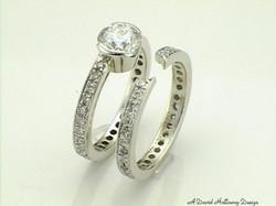 14KW Diamond wedding set