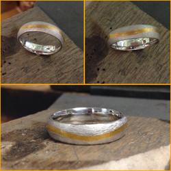 Platinum and 22K ring
