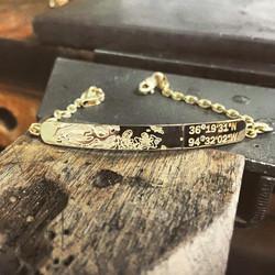 Diamond and 14KY Gold Bracelet