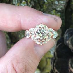 Rose Gold, Diamond & Morganite a beautif