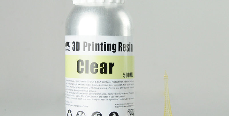 Смола Wanhao Water Washable 0.5l Clear