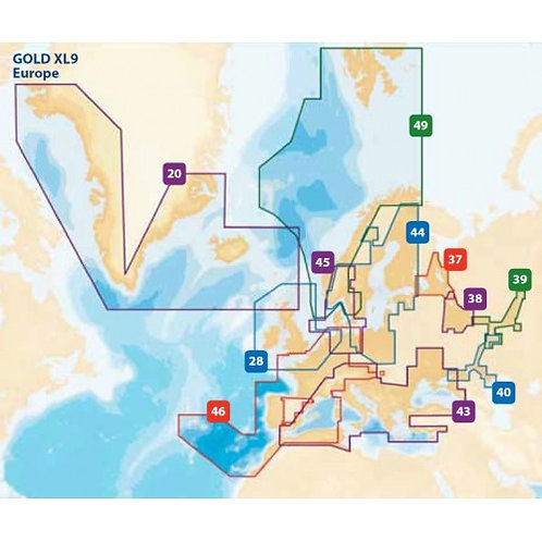 Navionics Gold Card / XL9 EUROPE
