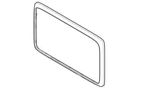 Предна рамка (сребриста) за а9 series