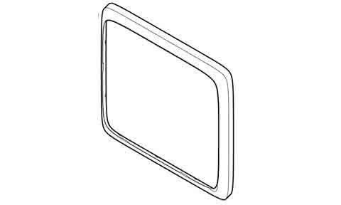 Предна рамка (черна) за а6 series