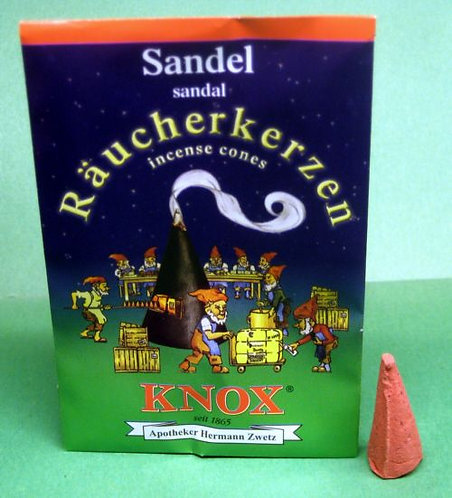 "#014-130 - Famous KNOX Brand ""Sandalwood"" Incense Cones - 5 pc Sample Packet"