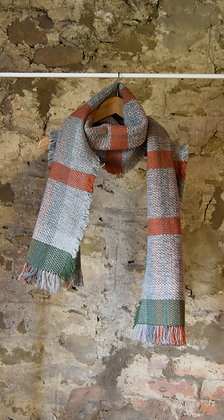 Orange and Grey Scarf
