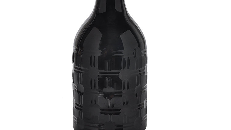 Flaska Svart Glas