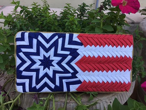 Folded Fabric, No- Sew Stars and Stripes Flag Pattern, Patriotic, 4th of July Holiday decoration, American Flag