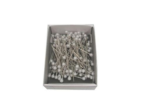 Decorative Straight Pins, White pearl head, 1-1/16 inch