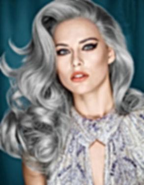 Coloration cheveux gris