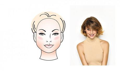 coiffure pour visage rond