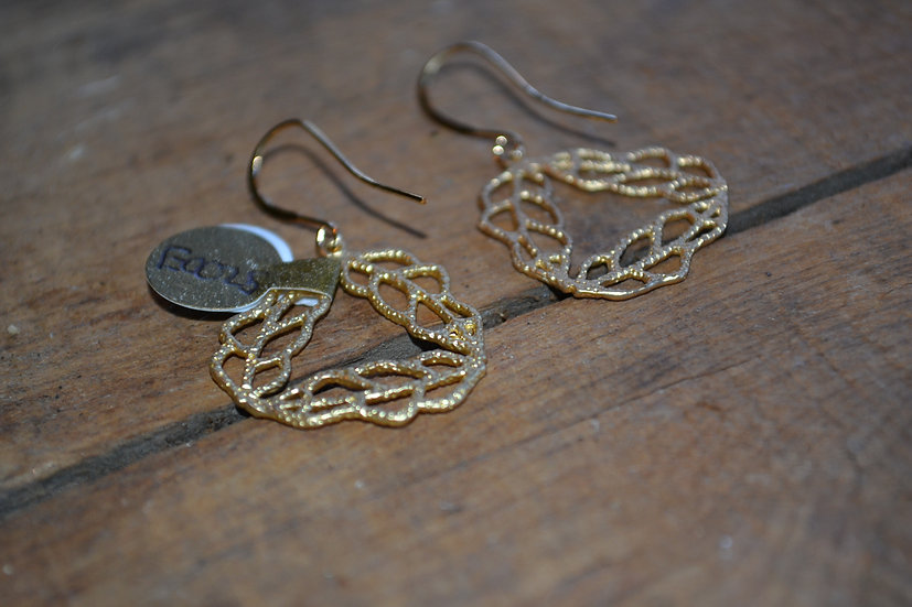 Gold Wreath Dangle Earrings E0025