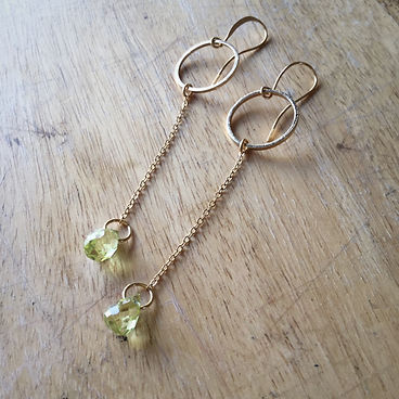 Gem, Gemstone, Gold, Gold Earrings, Gemstone Earrings, Peridot Earrings, Boho, Bohoglam, Bohostyle, Bohemian, Gypsy, Minimalist, Simple Earrings, Minimalist Earrings, Foxy Hardware, Hand Crafted, Handmade