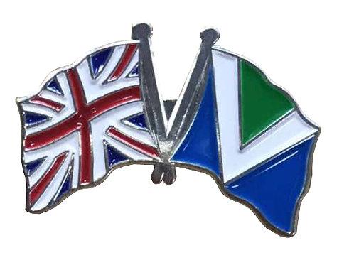 British flag & Vegan Flag Badge