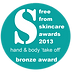 Freefrom skincare award winner