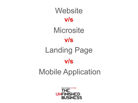 What is the difference between a website, microsite, landing page and mobile phone app?
