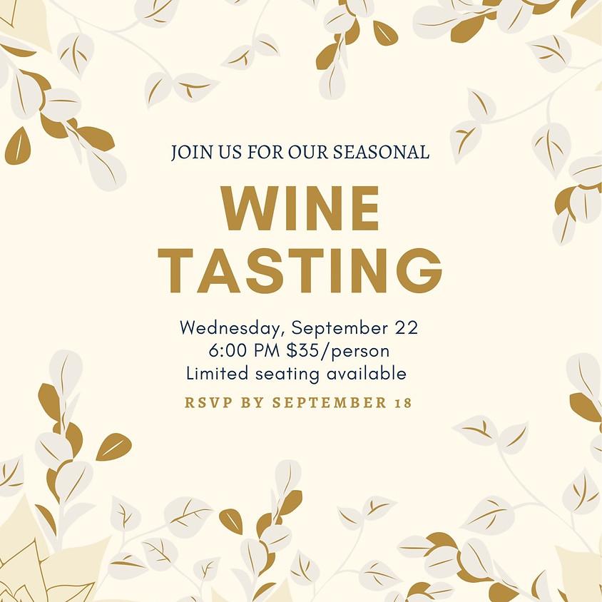 Seasonal Wine Tasting
