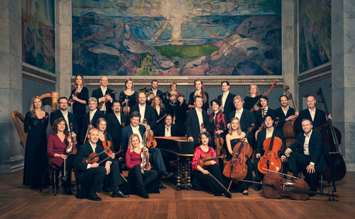 Norwegian Chamber Orchestra in University Aula, Oslo