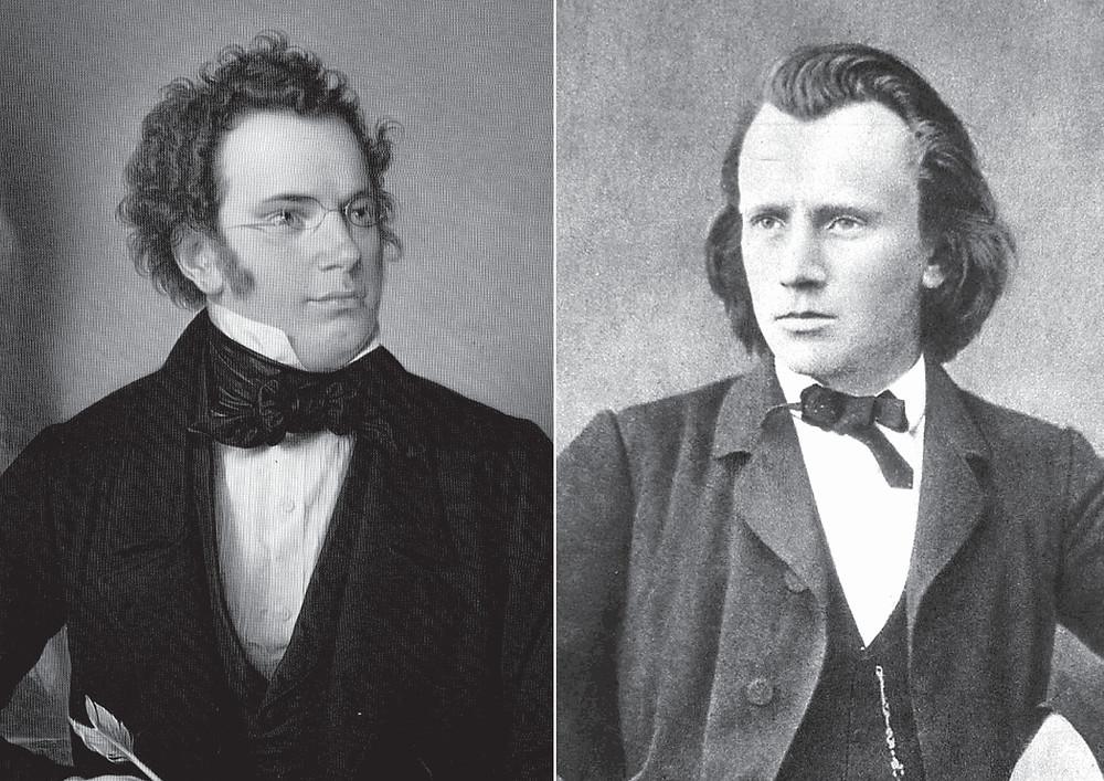 Bilde: Franz Schubert, oljemaleri avWilhelm August Rieder/ Brahms i Wien,1866
