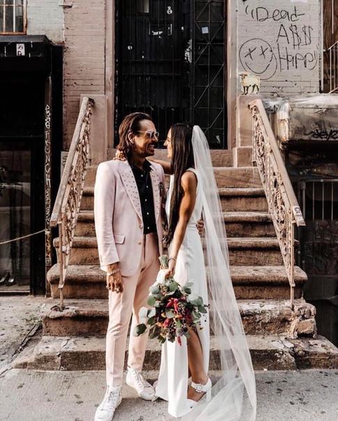 New York Streets Wedding