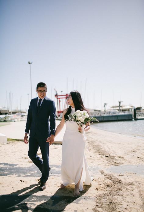 Juee and Owen Brighton Beach Wedding