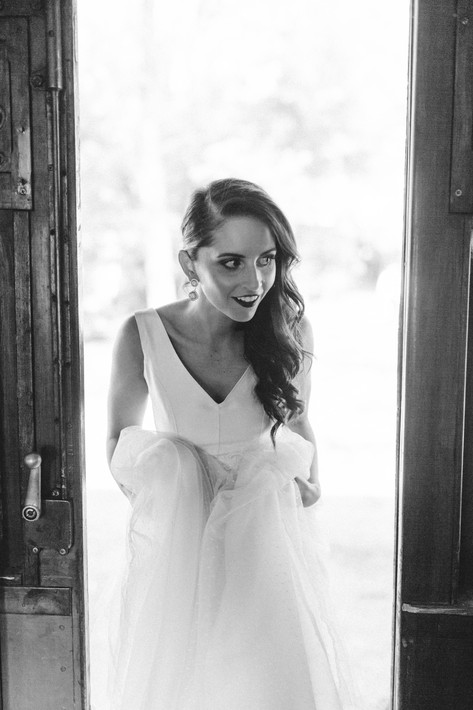 Rustic wedding victoria with Cathleen Jia Ivana gown