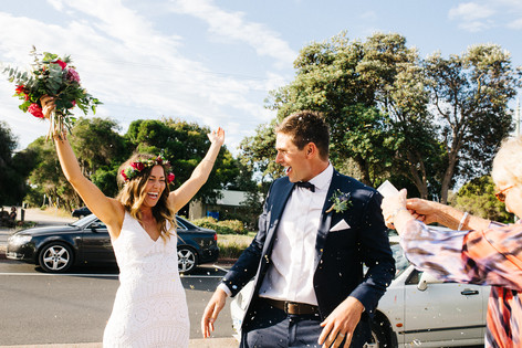 Mornington Beach Wedding bride and groom