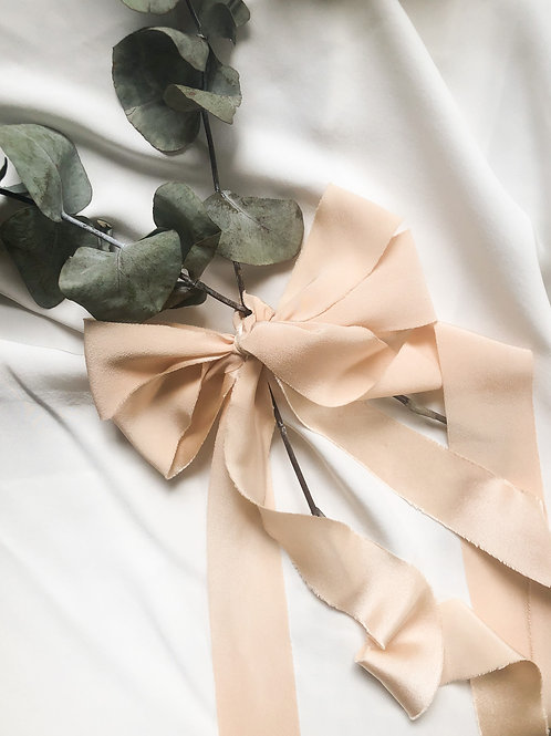 Silk Ribbon- Soft Peach