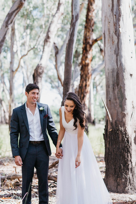 Country wedding in victoria with Cathleen Jia Ivana gown