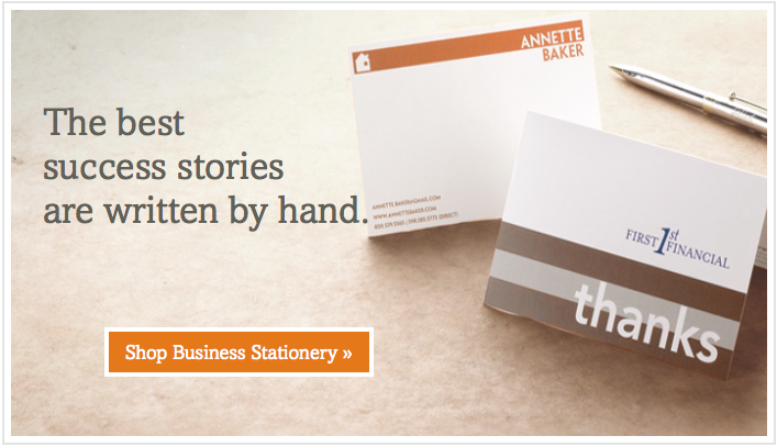 Landing Page - Business Stationery