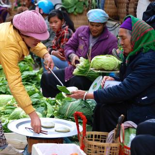 Sapa market Vietnam