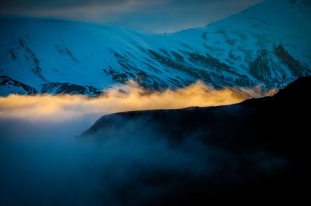 Вулкан Толбачик на закате. Камчатка.