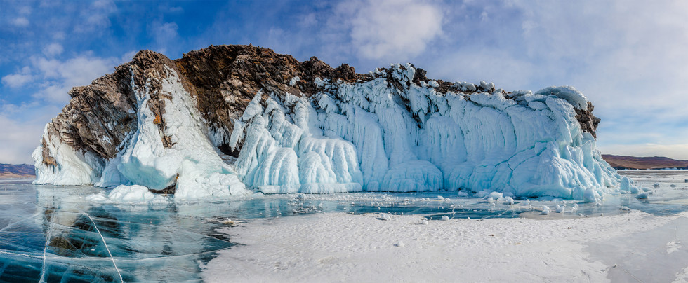 Ледовые наплески Байкала