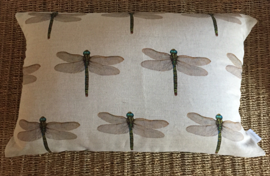 Dragonfly linen scatter cushion