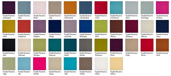 Plain Fryetts Fabric Samples