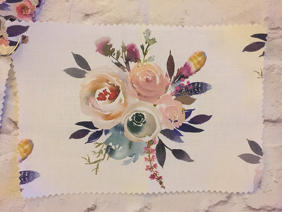 Rose Bouquet Buttonpearl Fabric - Watercolour Floral