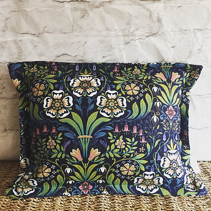 Botanical plant navy scatter cushion
