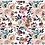 Thumbnail: Blush Anemone Buttonpearl Fabric - Watercolour Floral