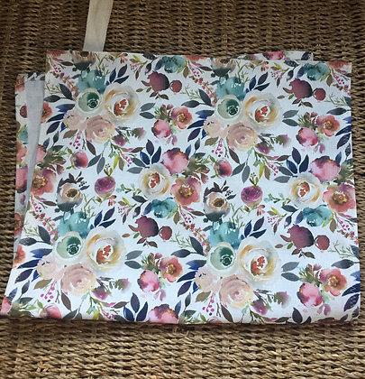 Watercolour Floral Kitchen Tea Towel